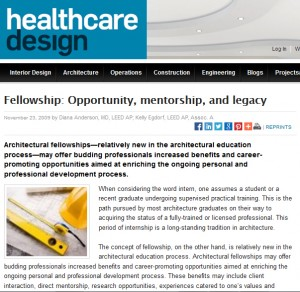 HCD Fellowship article screenshot